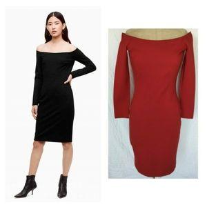 Aritzia Babaton PAYTON Off the Shoulder Dress